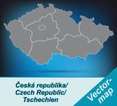 Map of Czech Republic — Stockvektor