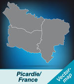 Map of picardie — Stockvektor