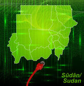 Map of sudan — Stock Vector