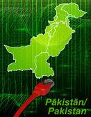 Karta över pakistan — Stockvektor