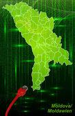 Map of moldavia — Stock Vector