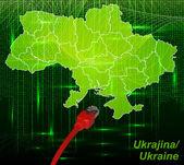 Mapa de ucrania — Vector de stock