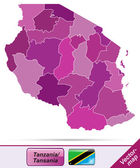 Map of Tanzania — Stock Vector