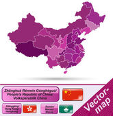 Map of China — Stock Vector