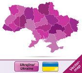 Ukrayna haritası — Stok Vektör