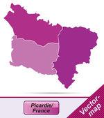 Map of picardie — Stock Vector