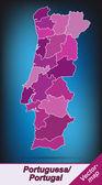 ポルトガルの地図 — ストックベクタ