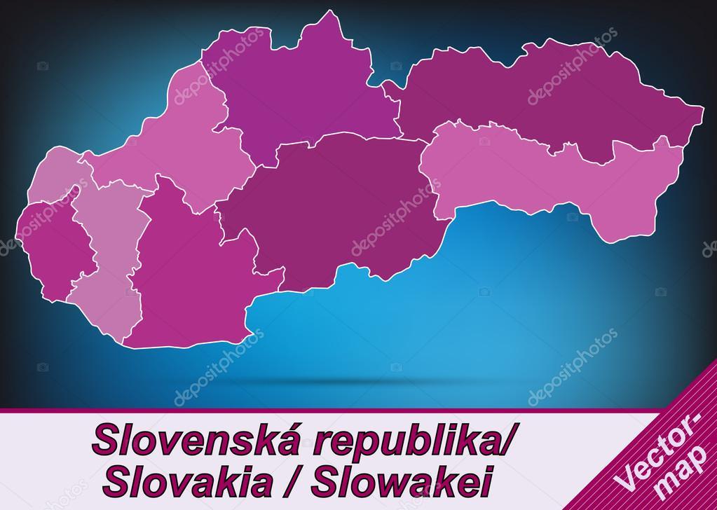Slovakia Map Vector Map of Slovakia With Borders