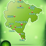 ������, ������: Map of Montenegro