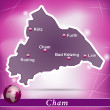 Stock Vector: Map of cham