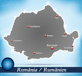 Map of Romania — Stock Vector