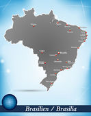 Map of Brazil — Stock Vector