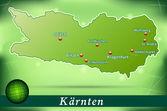 Map of kaernten — Stock Vector