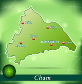 Map of cham — Stock Vector