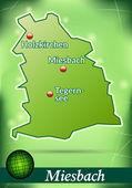 карта мизенбах — Cтоковый вектор
