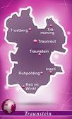 Map of traunstein — Stockvektor