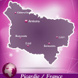 Map of picardie — Stock Vector #39320779