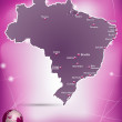 Map of Brazil — Stockvector #39320989