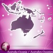 Map of australia-oceania — Stock Vector #39321145