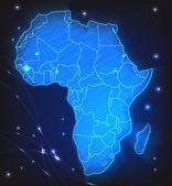 Map of Africa — Vector de stock