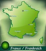 フランスの地図 — ストックベクタ