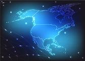 Kaart van noord-amerika — Stockvector