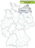 Map of Mecklenburg-Western Pomerania — Stock Vector