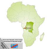 Map of Democratic Republic of the Congo — Stock Vector