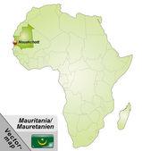 Map of mauritania — Stock Vector