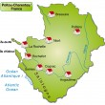 Map of Poitou-Charentes — Stock Vector
