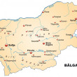 Постер, плакат: Map of Bulgaria