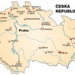 Map of Czech Republic — Vector de stock