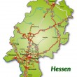 Map of Hesse — Stok Vektör #39346251