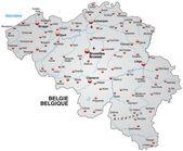 Belçika haritası — Stok Vektör