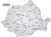Map of Romania — Stock Vector