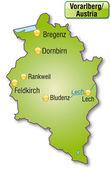 Map of vorarlberg — Stock Vector