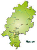 Map of Hesse — Stock Vector