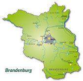 Map of Brandenburg — Stock Vector
