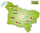 Map of picardie — Vecteur