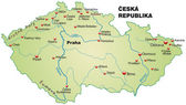 Map of Czech Republic — Vettoriale Stock