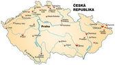 Map of Czech Republic — Stock Vector