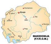 Map of Macedonia — Stock Vector