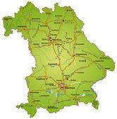 Map of Bavaria — Vecteur