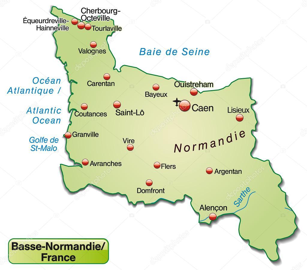 Mapa doln normandie stockov vektor 39344133 - Chambre des notaires de basse normandie ...