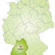 Stock Vector: Map of Baden-Wuerttemberg