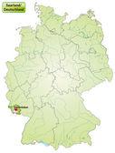 Map of Saarland — Stock Vector