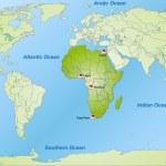 Постер, плакат: Map of Africa