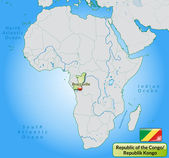 Map of Republic of the Congo — Vector de stock