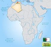 Map of Algeria — Stock Vector