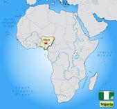Mappa della nigeria — Vettoriale Stock